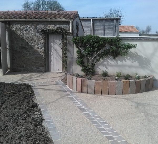 Enrobé jardin